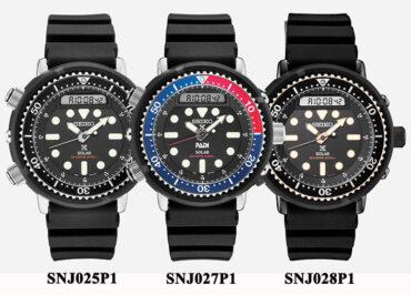 Seiko Prospex SNJ025P1 SNJ027P1 SNJ028P1