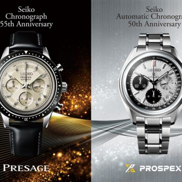 Two limited editions celebrate milestones in Seiko's chronograph history.