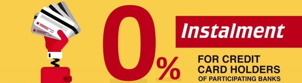 Installment 0%