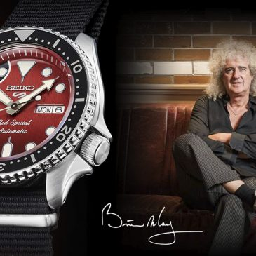 Seiko 5 Sports celebrates a legendary guitar, Brian May's ''Red Special''.