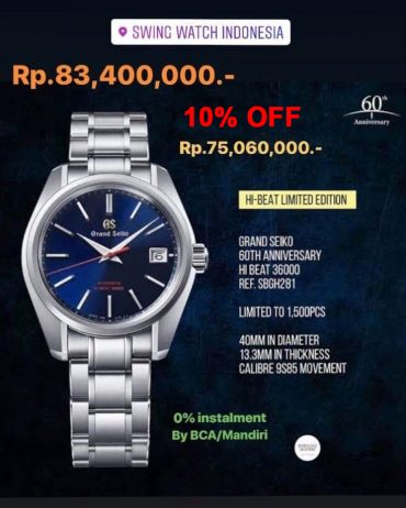 Grand Seiko SBGH281G Promotion and Cashback