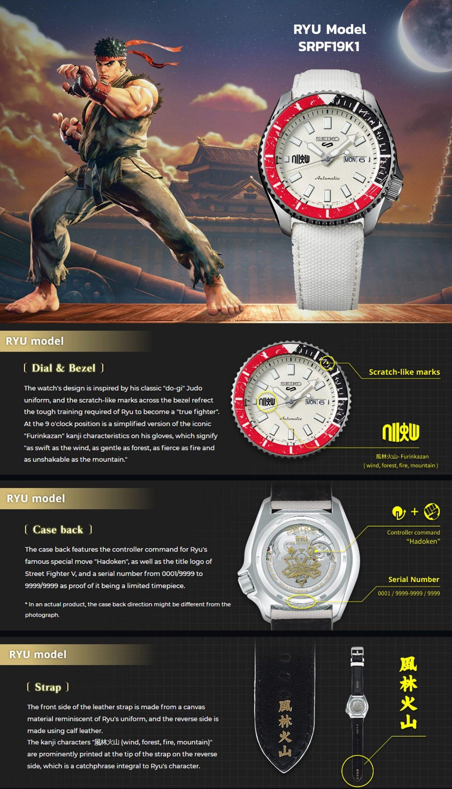 Seiko 5 Sports SRPF19K1 Features