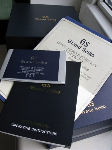 Grand Seiko SBGR101 Manual