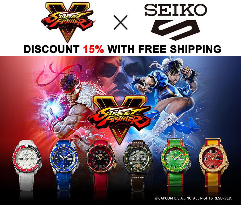 Seiko 5 x Street Fighter Promo Discount