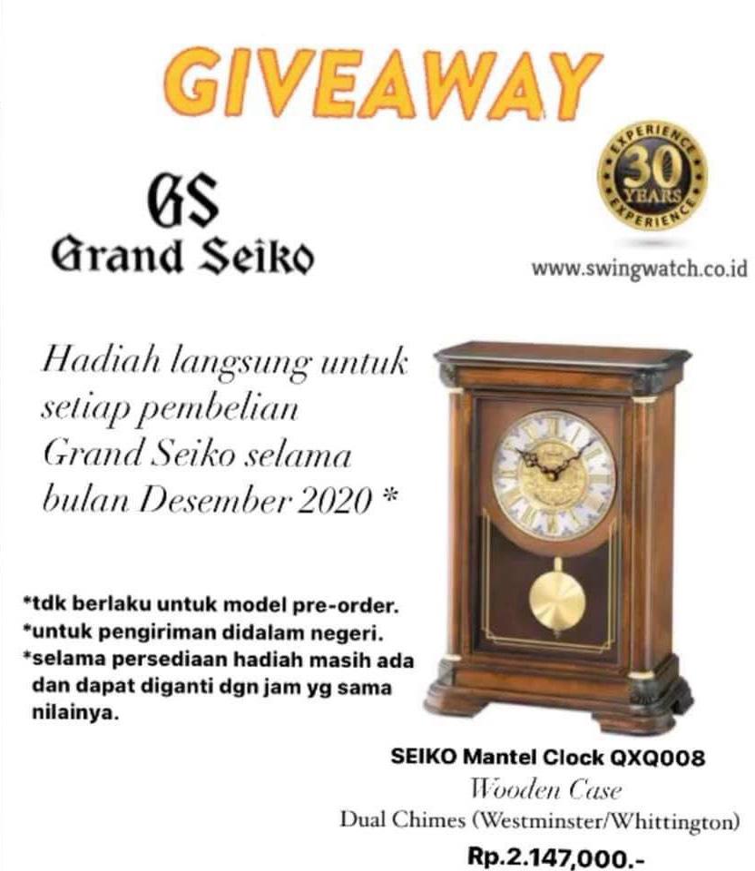 Promo Grand Seiko Mantel Clock December