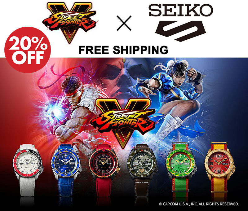 Seiko 5 x Street Fighter Promo Discount