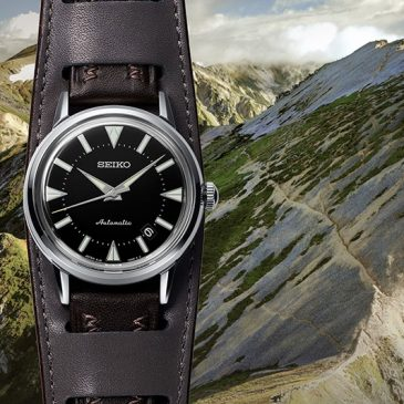 The re-creation of Seiko's first Alpinist watch from 1959. An important sports watch classic is re-born