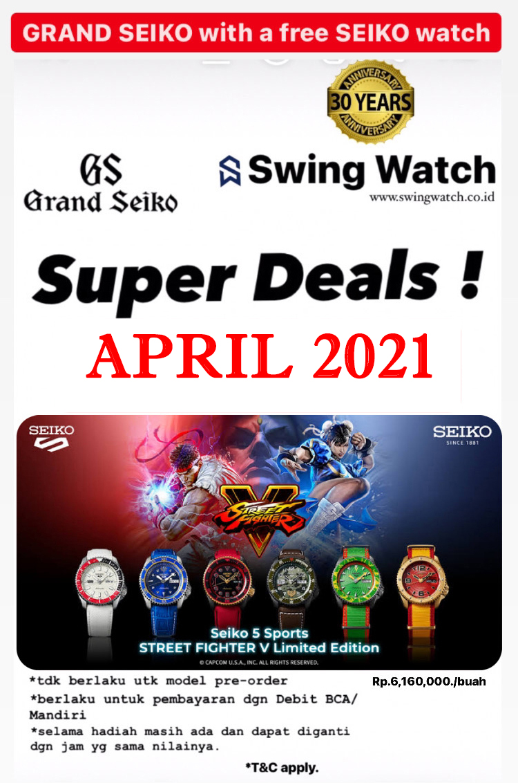Grand Seiko Seiko 5 Street Fighter April 2021 Promo