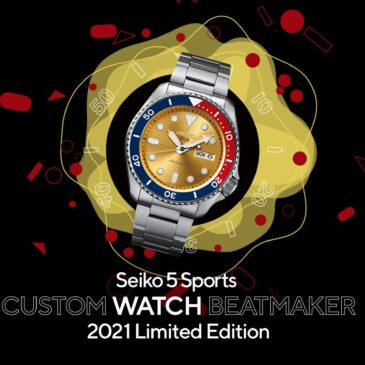 The winning watch from the CUSTOM WATCH BEATMAKER campaign joins the Seiko 5 Sports collection