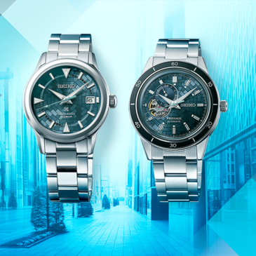 Ginza, the Tokyo district where the Seiko story began, inspires two watches that celebrate Seiko's 140th anniversary